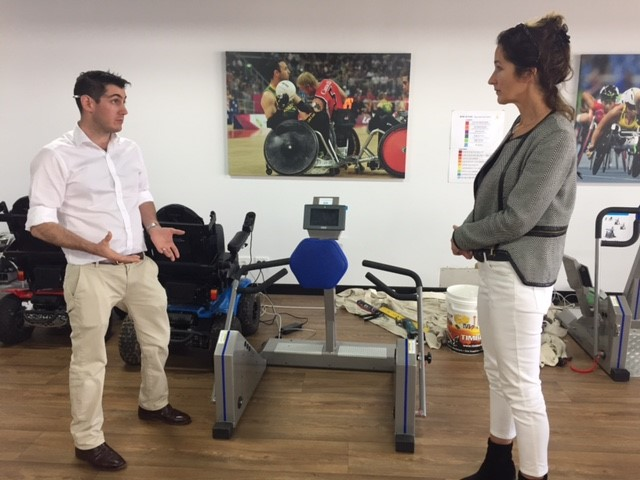 Moira with resort manager James int he state of the art gym