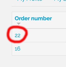 my orders tab