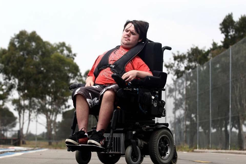 Dean Crane in his Wheelchair